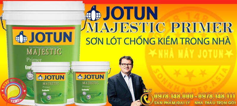 JOTUN MAJESTIC PRIMER - Sơn lót chống kiềm nội thất JOTUN