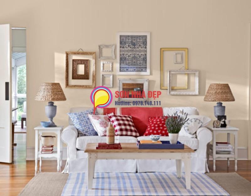 chọn màu sơn đẹp cho phòng khách nhỏ hẹp 04