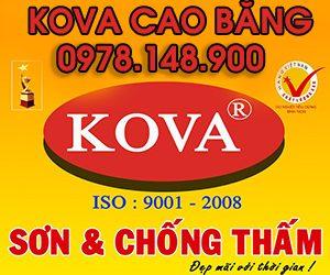 Đại lý sơn KOVA tại tỉnh Cao Bằng