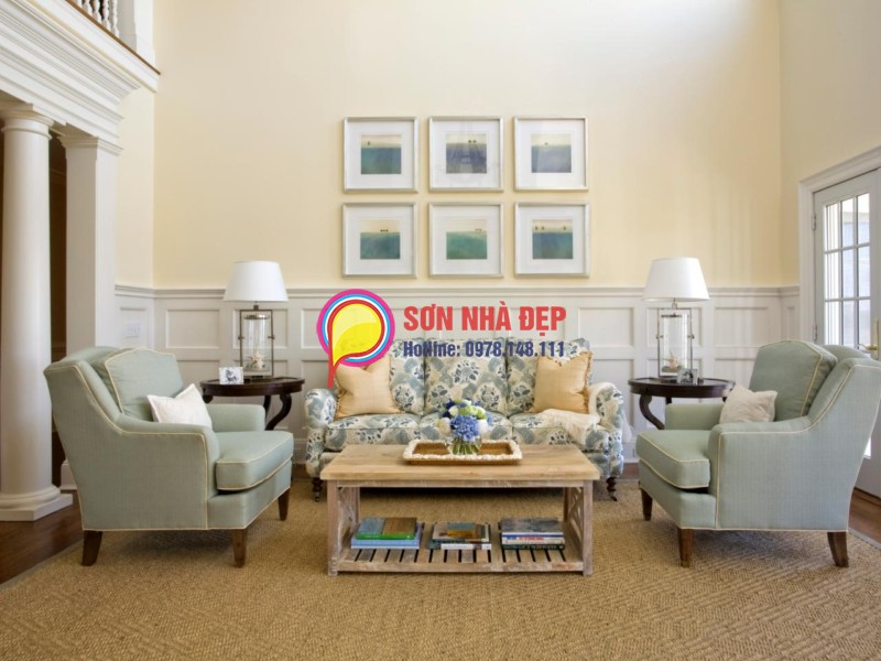 màu sơn phòng khách đẹp nhà chung cư đẹp nhất 11