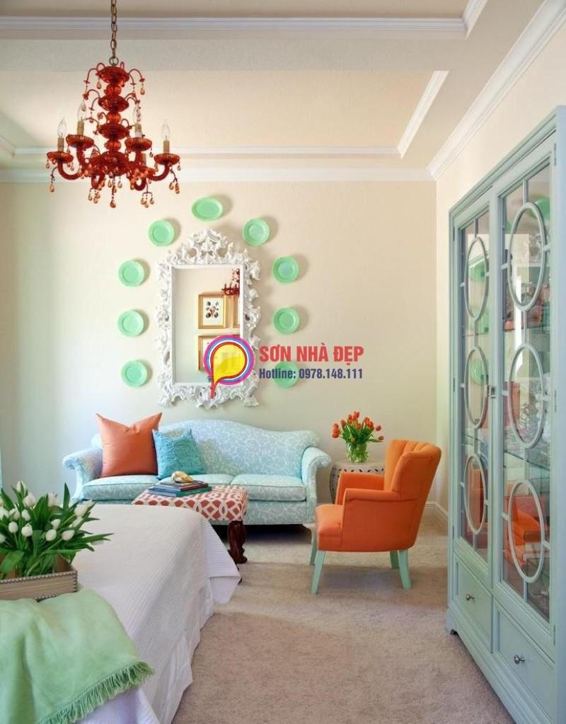 màu sơn phòng khách đẹp nhà chung cư 19