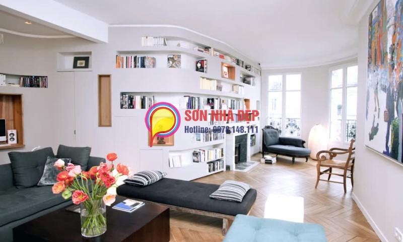 màu sơn phòng khách nhà chung cư đẹp nhất 30