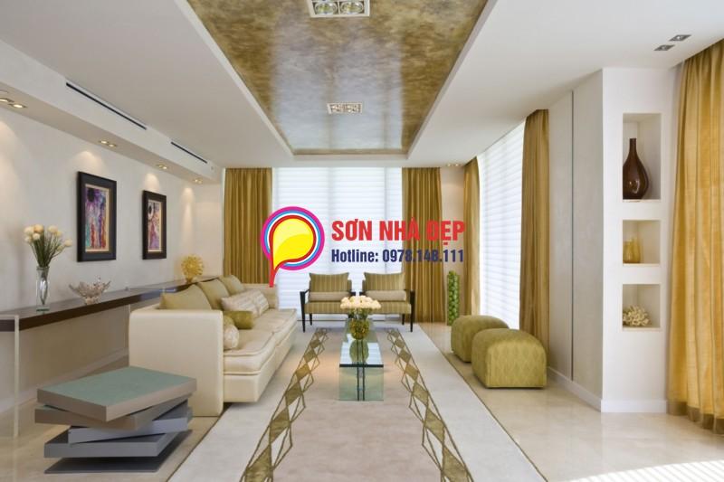 Màu sơn phòng khách sáng hơn 3