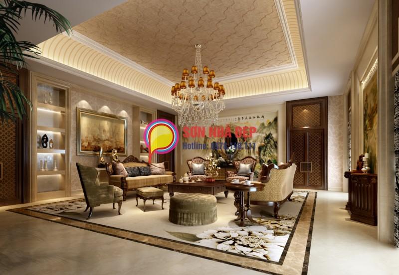 màu sơn phòng khách đẹp, sang trọng 13
