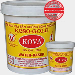 Sơn KOVA K280 GOLD màu đậm - Sơn mịn ngoài trời pha sẵn màu đậm chính hãng KOVA