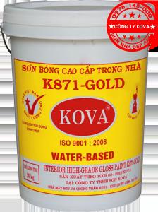 sơn KOVA K871 GOLD - sơn bóng cao cấp trong nhà KOVA