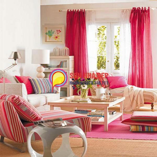 thiết kế phòng khách lãng mạn